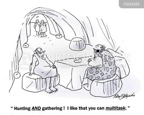 multi tasks cartoon