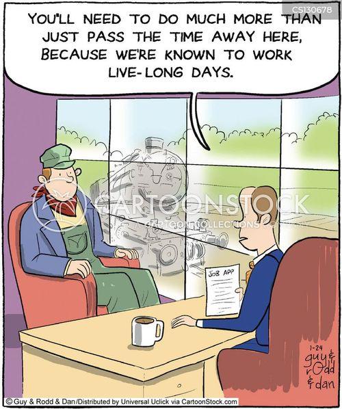 interview question cartoon