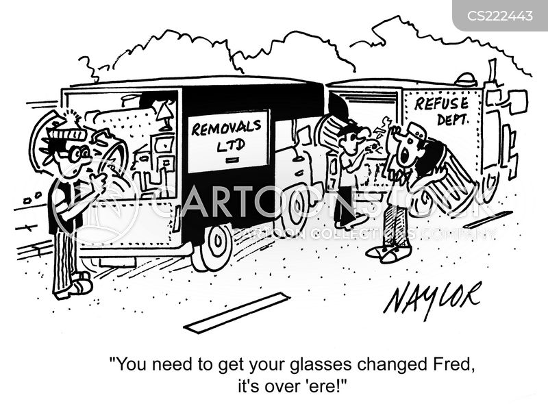 refuse collection cartoon
