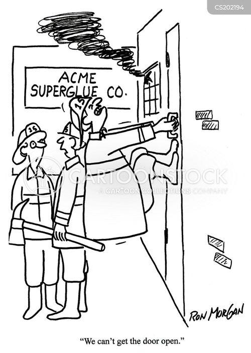 glue cartoon