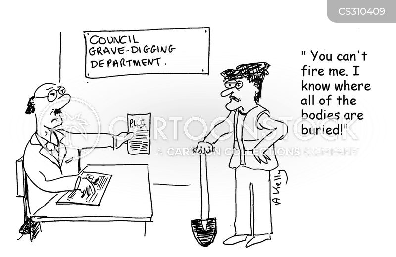 buried body cartoon