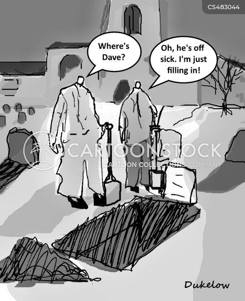 gravediggers cartoon