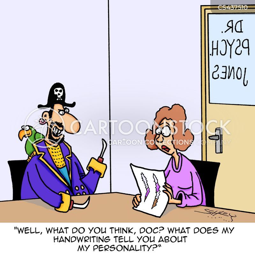 handwriting analysts cartoon