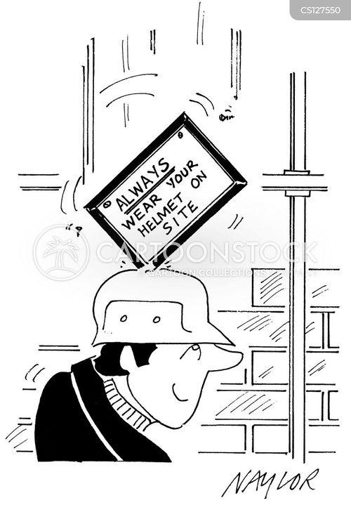 safety helmets cartoon