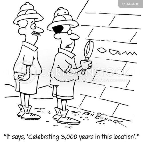 archaeological dig cartoon