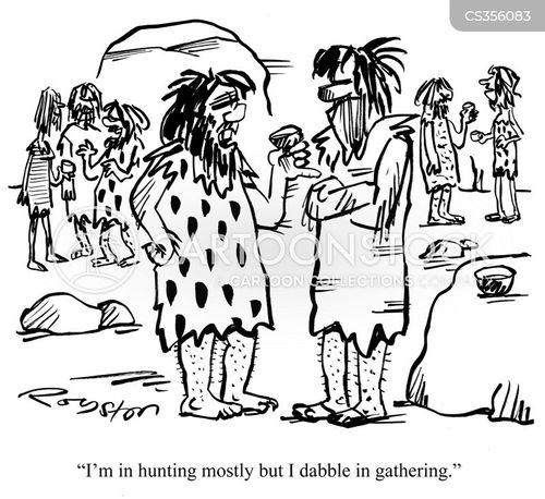 dabbling cartoon