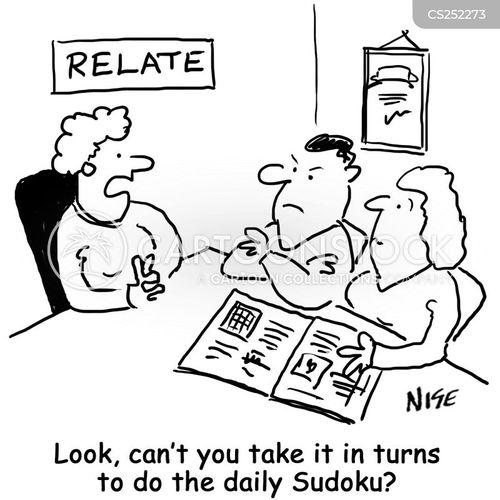 marital crisis cartoon