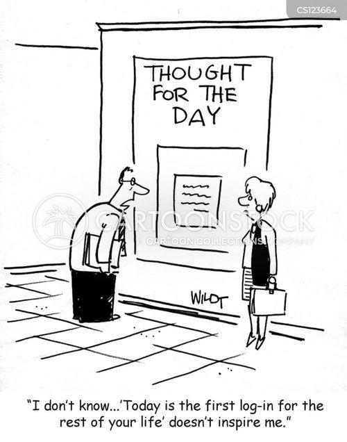 log-in cartoon