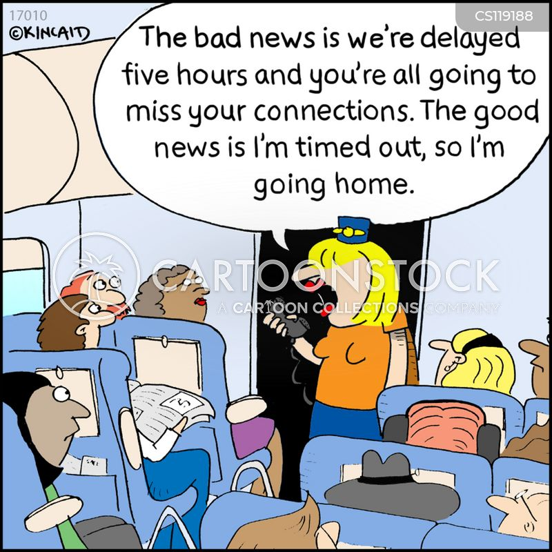 connecting flight cartoon