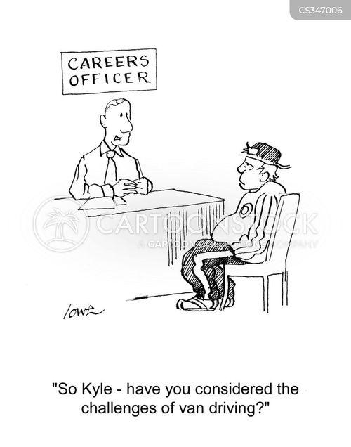 career officer cartoon