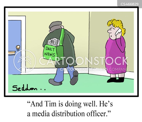 newspaper boys cartoon