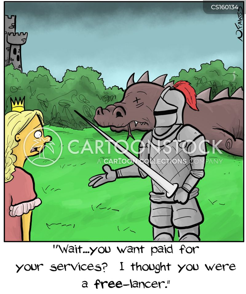 dragon-slayer cartoon