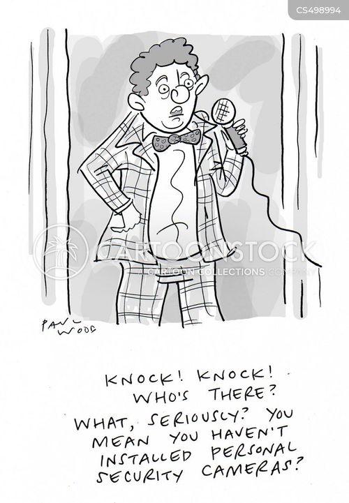 knock knock cartoon