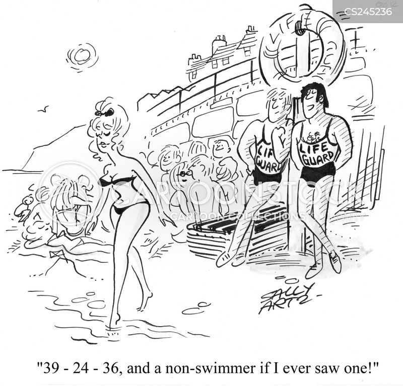 non-swimmer cartoon