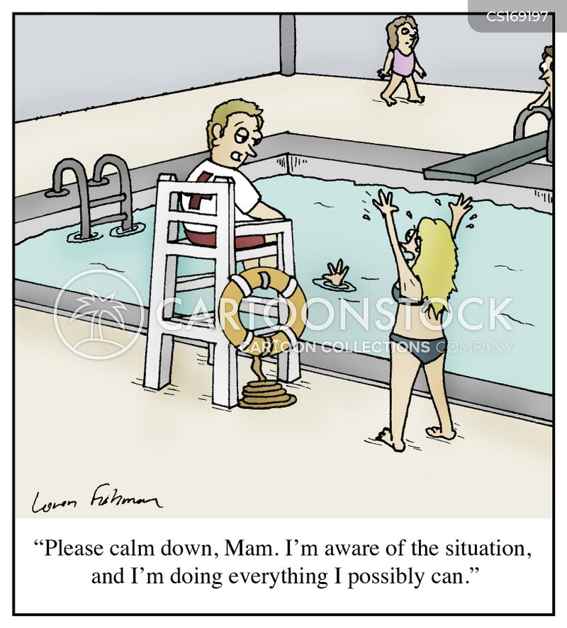calm down cartoon