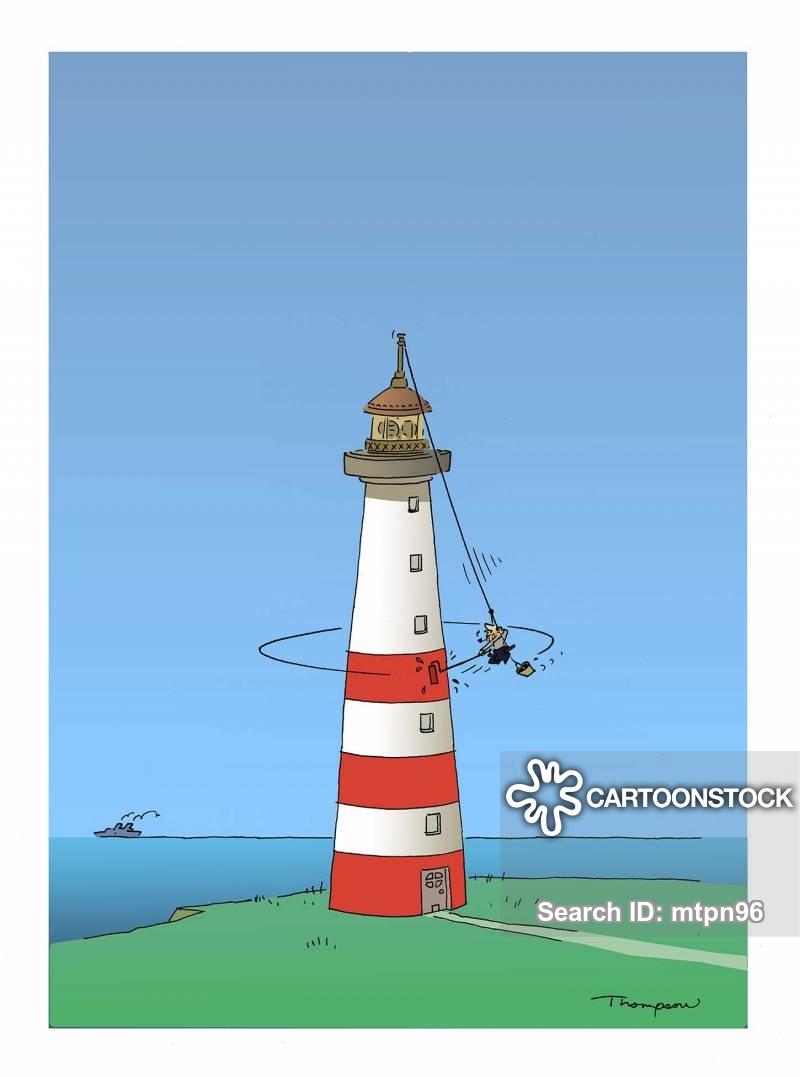 light-house cartoon