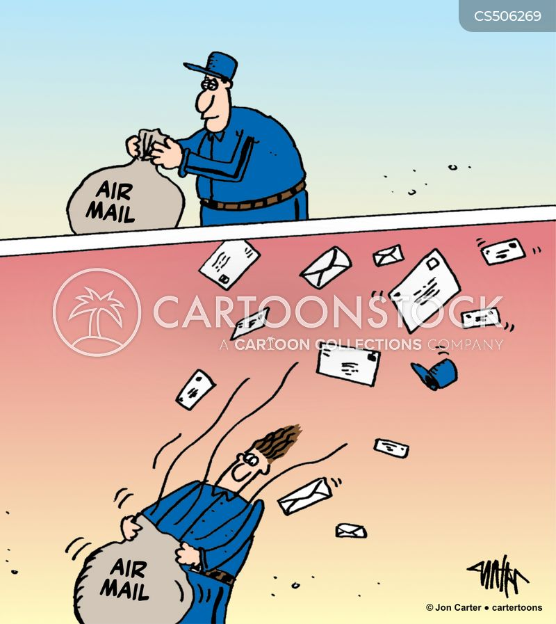 air mail cartoon