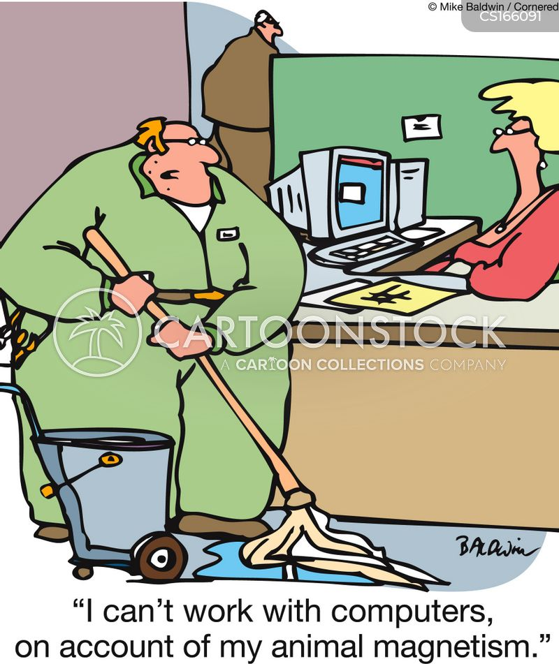 janitors cartoon