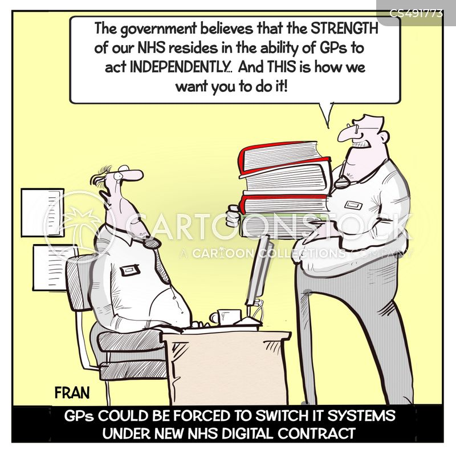 digital contract cartoon