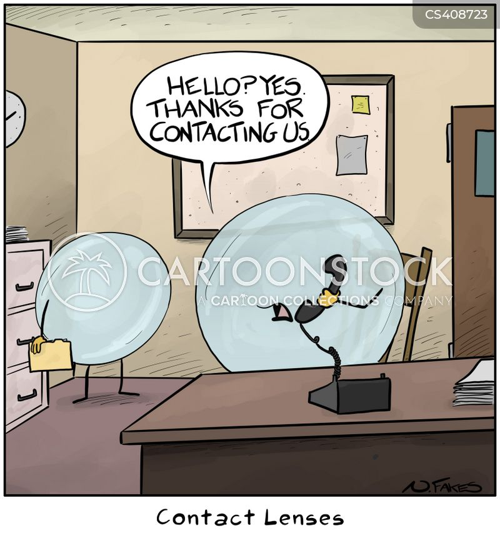 contacting cartoon