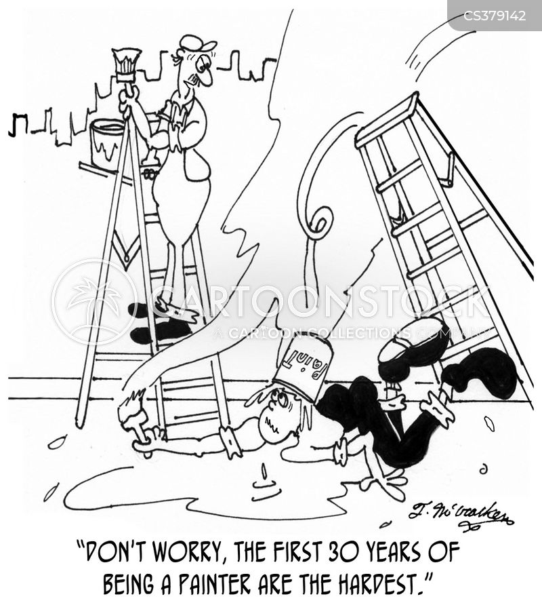 skilled tradesman cartoon