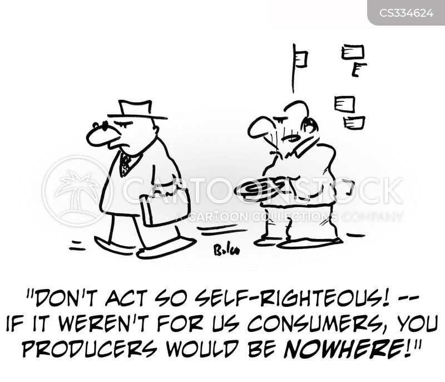 self-righteous cartoon