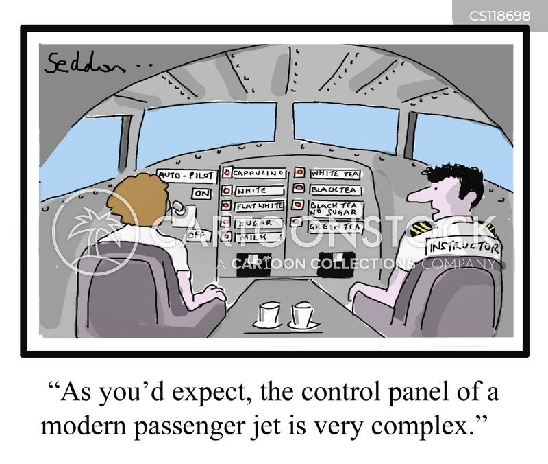 flying instructors cartoon
