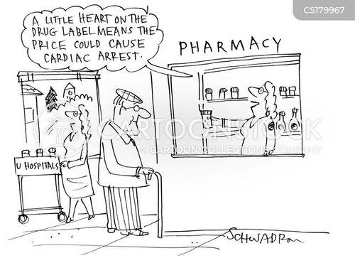 drug labels cartoon