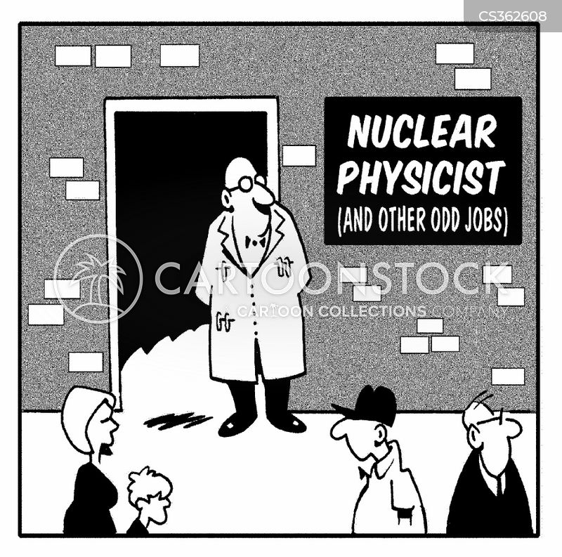 nuclear scientist cartoon