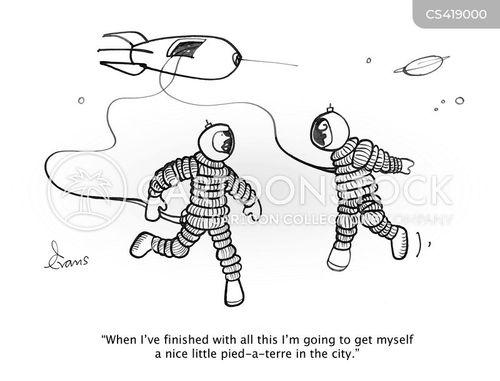pied-a-terre cartoon