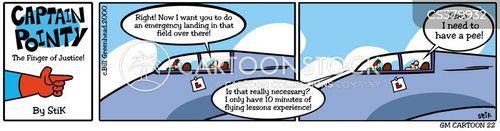 flying instructor cartoon