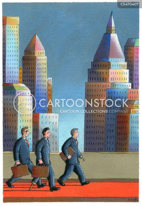 financial districts cartoon