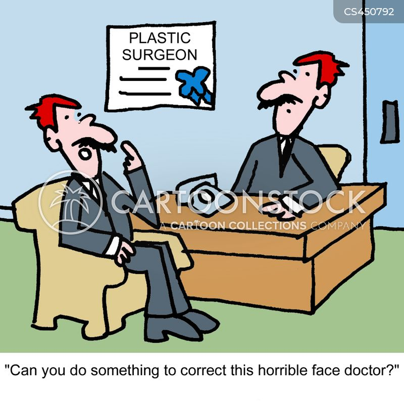 plastic surgeries cartoon