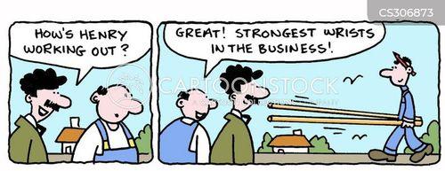 strong men cartoon