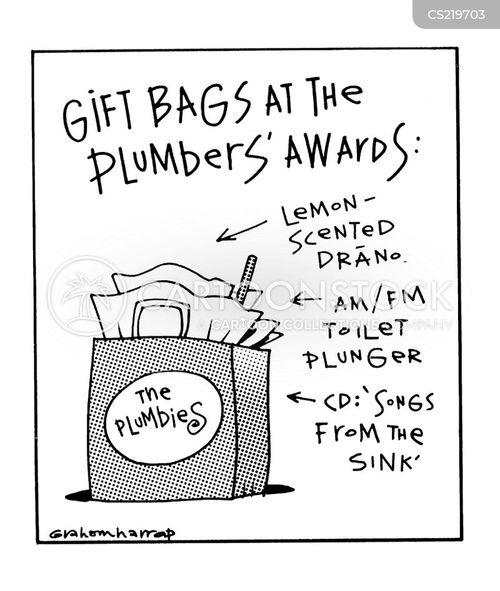 gift bags cartoon