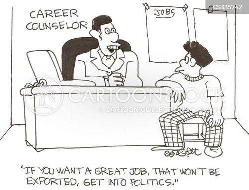 careers counselors cartoon