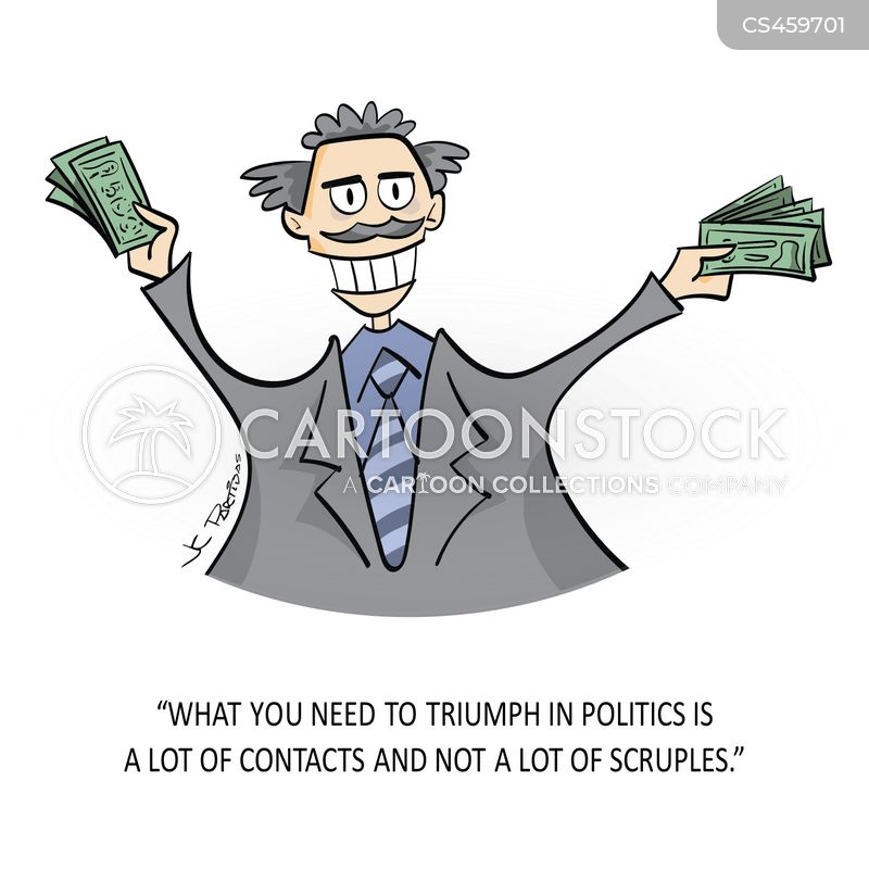 political donors cartoon