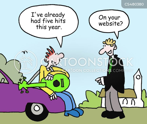 web traffic cartoon