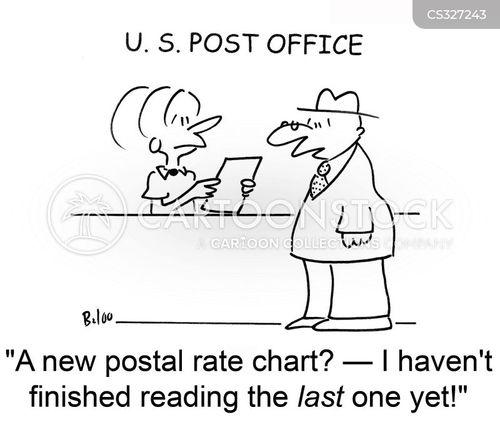 posting letters cartoon