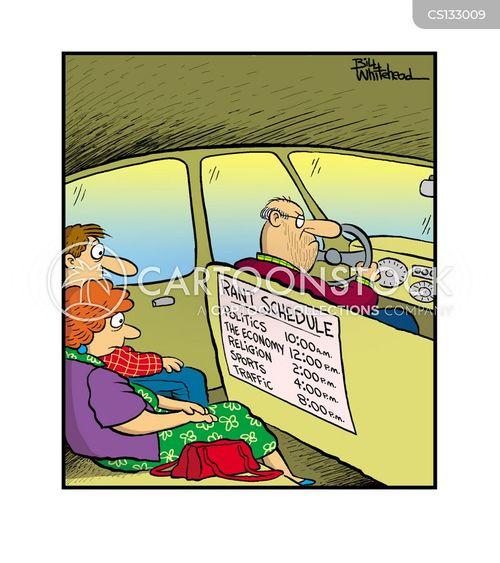 cab drivers cartoon