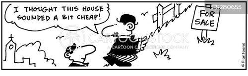 cheap houses cartoon