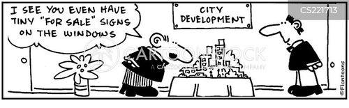 model villages cartoon