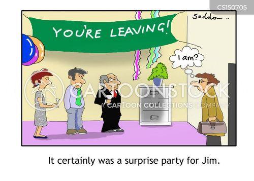 leaving party cartoon