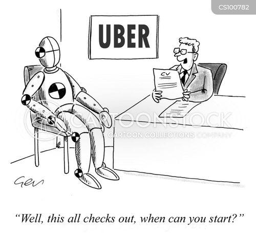 ride sharing app cartoon