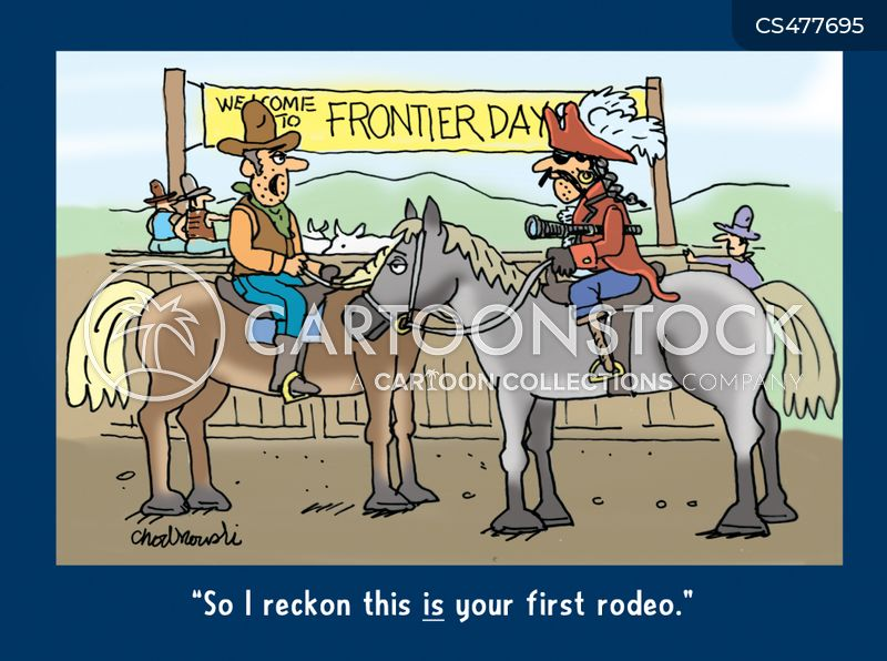 rodeo rider cartoon
