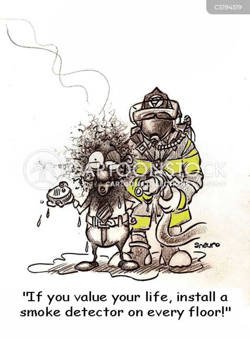 smoke detectors cartoon