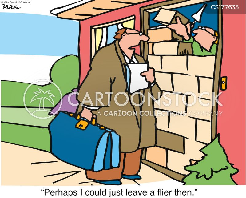 Door-to-door Salesman cartoon 1 of 37  sc 1 st  CartoonStock & Door-to-door Salesman Cartoons and Comics - funny pictures from ...