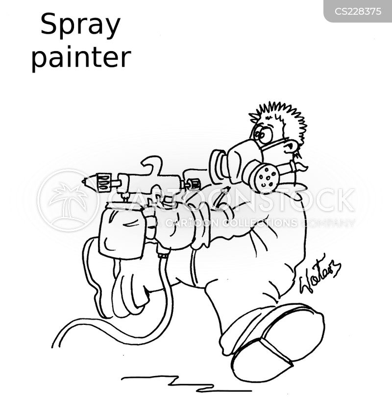 spray painting cartoon