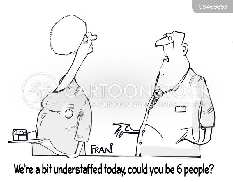 understaffed cartoon
