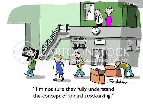 stock check cartoon